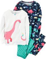 Carter's Girls 4-12 4-pc. Dinosaur Pajama Set