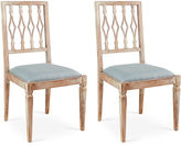 Sarreid Ltd. Spa Linen Avice Side Chairs, Pair