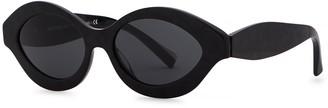 Alain Mikli N862 Black Oval-frame Sunglasses