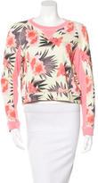 Emma Cook Floral Crop Sweatshirt