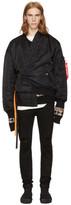 Christian Dada Reversible Black Jinbei Bomber Jacket