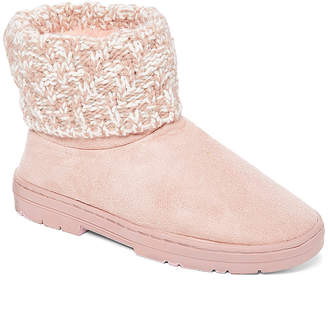 Blush B-Lush Chatz By Chatties Chatz by Chatties Women's Cold Weather Boots Blush - Blush Knit-Ankle Slipper Boot - Women