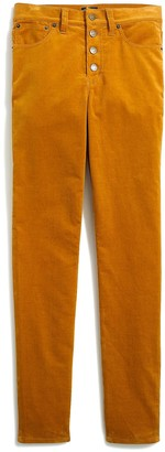 """J.Crew Petite 9"""" high-rise skinny corduroy pant with button fly"""