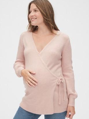 Gap Maternity Side-Tie Wrap Sweater