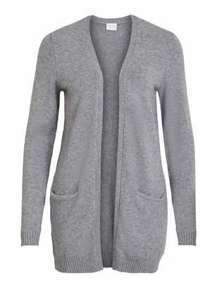 Vila Women's Viril Open L/s Knit Cardigan - Noos Sweater