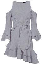 Exclusive for Intermix Ellie Cold Shoulder Asymmetrical Dress