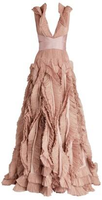 Maria Lucia Hohan Ruffle-Detail Alice Gown