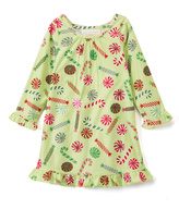 Green Candy Cane Nightgown - Toddler