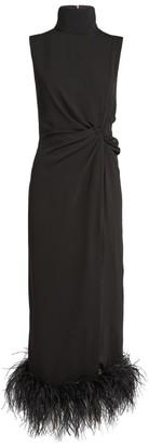 16Arlington Maika Feather Trim Dress