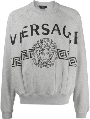 Versace spliced Medusa Head logo print sweatshirt