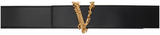 Versace Black Virtus Wide Belt