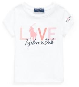 Polo Ralph Lauren Toddler Girls Pink Pony Jersey Tee