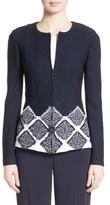 St. John Women's Ahem Knit Fil Coupe Jacket