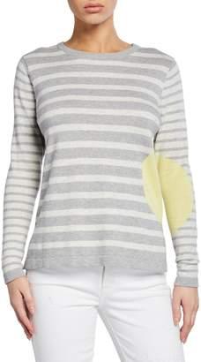 LISA TODD Striped Dot Long-Sleeve Cotton Sweater