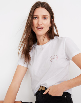 Madewell Carhartt Work in Progress Heart Embroidered Tilda Tee