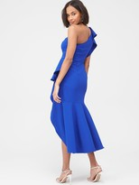 Very Ruffle Front Structured Dress - Blue
