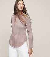 Reiss New Collection Lina Pleated Long-Sleeved Top