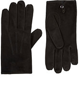 Barneys New York Men's Suede Gloves-BLACK
