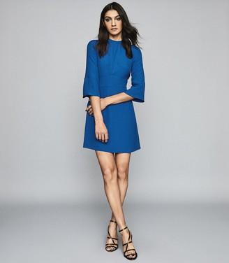 Reiss Cora - Bell Sleeve Shift Dress in Cobalt Blue