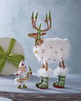 """Patience Brewster Blitzen"""" Reindeer Figure and Elf Ornament"""