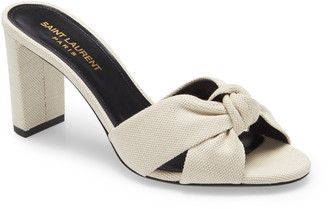 Saint Laurent Loulou Knot Slide Sandal