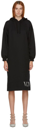 Valentino Black VLTN Hoodie Dress