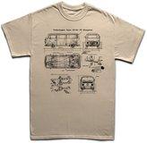 Customised Perfection Type 23-50 Bus V Dub Classic Car Blueprint T Shirt S