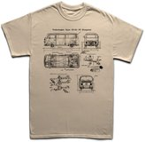 Customised Perfection Type 23-50 Bus V Dub Classic Car Blueprint T Shirt XL