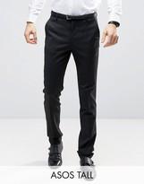 Asos TALL Slim Tuxedo Pants in Black
