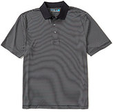 Roundtree & Yorke Performance Short-Sleeve Stripe Stretch Polo