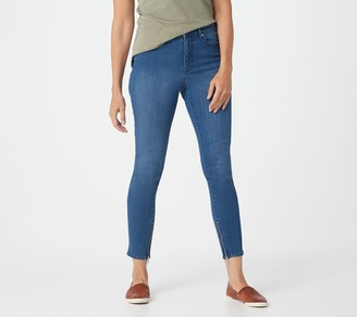 Isaac Mizrahi Live! Regular TRUE DENIM Ankle Jeans with Zip Detail