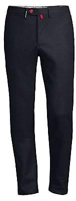 Kiton Men's Straight-Leg Stretch Wool Pants