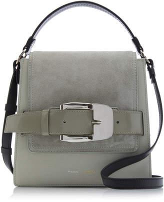 Proenza Schouler Buckle-Embellished Leather And Suede Shoulder Bag