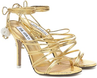 ATTICO Fiona metallic leather sandals