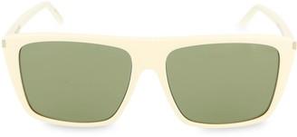 Saint Laurent 57MM Square Core Sunglasses