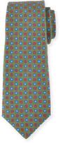 Kiton Neat Circle-Medallion Printed Silk Tie