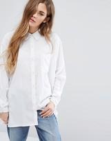 Daisy Street Oversized Paneled Shirt