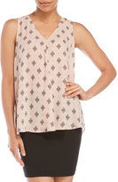 Vince Camuto Printed Woven Tank