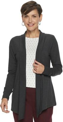 Croft & Barrow Women's Long Sleeve Soft-Snit Open Front Cardigan