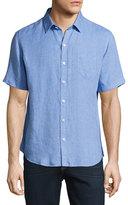 Zachary Prell Kaplan Linen Short-Sleeve Sport Shirt