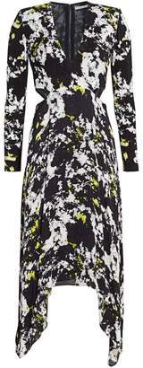 Alice + Olivia Temika Cutout Print Dress