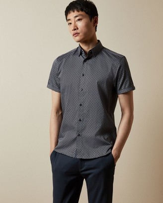 Ted Baker Short Sleeved Geo Print Shirt