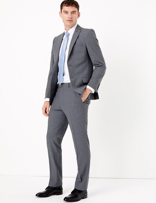 Marks and Spencer The Ultimate Big & Tall Grey Slim Fit Jacket