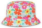 Circo Infant Toddler Girls' Floral Bucket Hat Pink/Orange