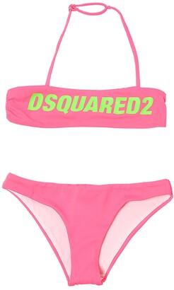 DSQUARED2 Logo Print Lycra Bikini