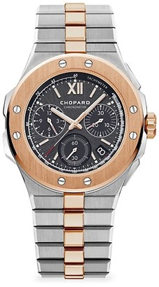Chopard Alpine Eagle Chronograph 18K Rose Gold & Stainless Steel Bracelet Watch