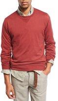 Brunello Cucinelli Crewneck Long-Sleeve Sweatshirt, Marble