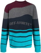 Off-White Off White striped knitted jumper