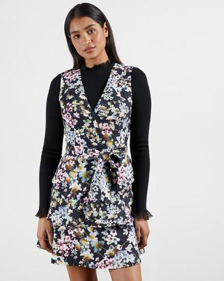 Ted Baker JACKII Jasmine Tiered V-Neck Mini Dress