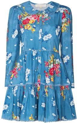 LoveShackFancy Marzia floral-print mini dress